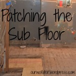 patching the sub floor