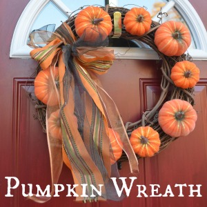 Pumpkin Wreath Square
